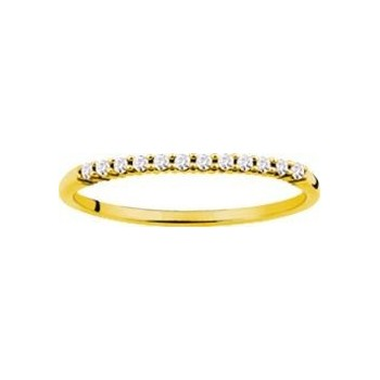 Demi-alliance GRIFFE or jaune 750 /°° diamants 0,12 carat