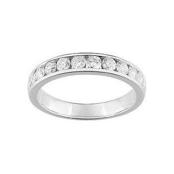 Demi-alliance RAIL or blanc 750 /°° diamants 0,60 carat