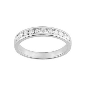 Demi-alliance RAIL or blanc 750 /°° diamants 0,40 carat