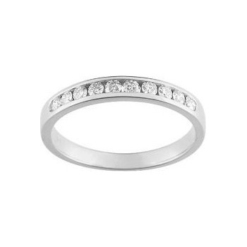 Demi-alliance RAIL  or blanc 750 /°° diamants 0,30 carat