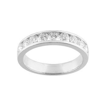Demi-alliance RAIL  or blanc 750 /°° diamants 1 carat