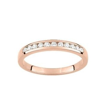 Demi-alliance RAIL or rose 750 /°° diamants 0,20 carat