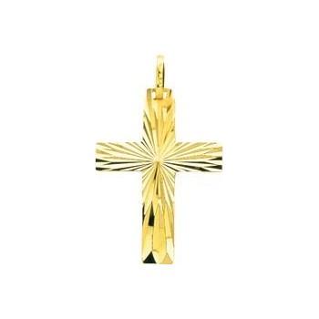 Croix ETOILE or jaune 750 /°° dimensions 31 mm x 18 mm