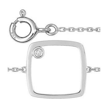 Bracelet GALAXY or blanc 750 /°° diamant 0,01 carat