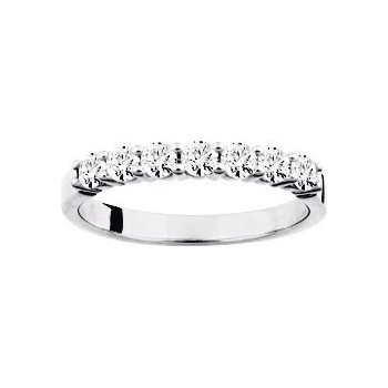 Demi-alliance GRIFFE or blanc 750 /°° diamants 0,50 carat