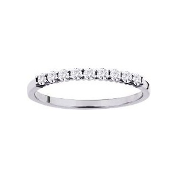 Demi-alliance GRIFFE or blanc 750 /°° diamants 0,26 carat