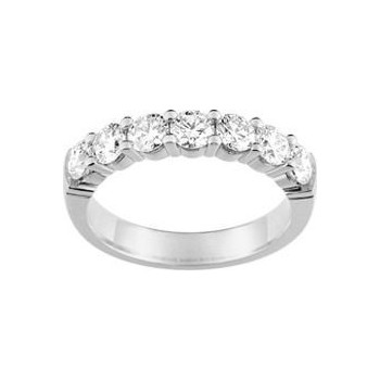 Demi-alliance GRIFFE or blanc 750 /°° diamants 1,20 carat