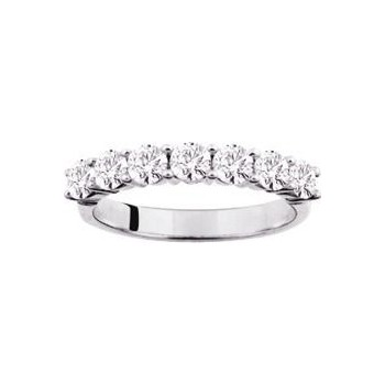 Demi-alliance GRIFFE or blanc 750 /°° diamants 1 carat