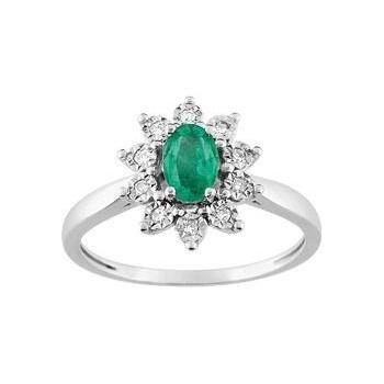 Pague PANACEA GE  blanc 750 /°° diamants émeraude 0.45 carat