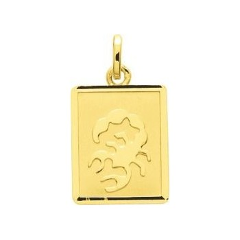 Zodiaque SCORPION or jaune 750 /°°rectangulaire