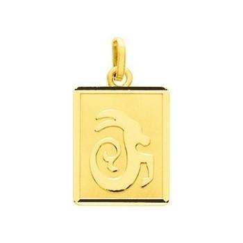 Zodiaque CAPRICORNE or jaune 750 /°° rectangulaire