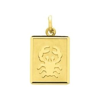 Zodiaque CANCER or jaune 750 /°° rectangulaire