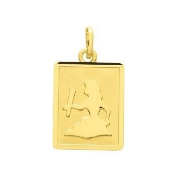 Zodiaque VIERGE or jaune 750 /°° rectangulaire