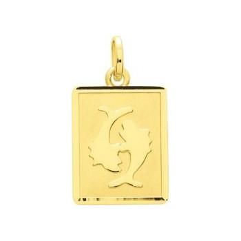 Zodiaque POISSONS or jaune 750 /°° rectangulaire