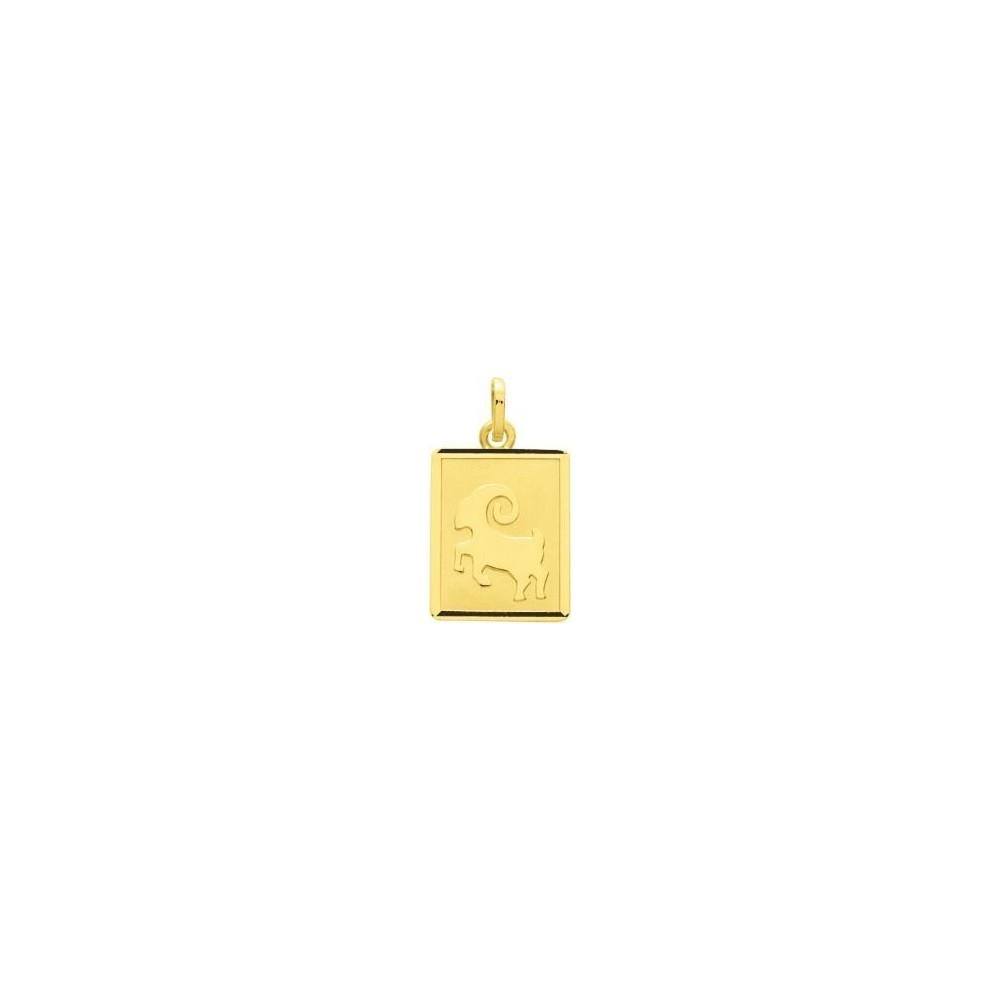 Zodiaque BELIER or jaune 750 /°° rectangle