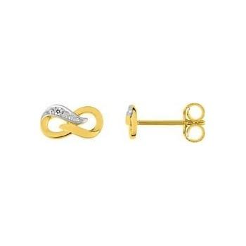 Boucles d'oreilles MONTRESOR or jaune 750 /°° diamants