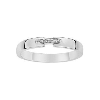 Bague SUBLIME or blanc 750 /°° diamants 0.02 carat