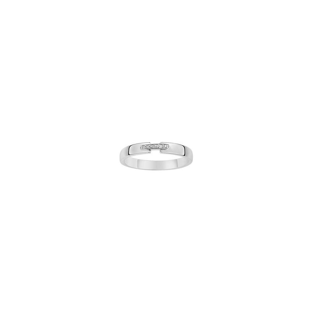 Bague SUBLIME or blanc 750 /°° diamants 0.02 carat