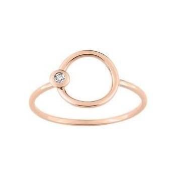 Bague CAPRI R or rose 750 /°° diamants 0,01 carat