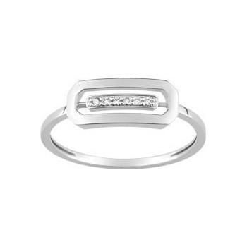 Bague ANTAO or blanc 750 /°° diamants 0,03 carat