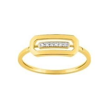 Bague ANTAO or jaune 750/°° diamants 0,03 carat