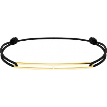 Bracelet LAMPEDUSA or jaune 750 /°° cordon noir