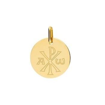 Médaille or jaune 750 /°° Chrisme