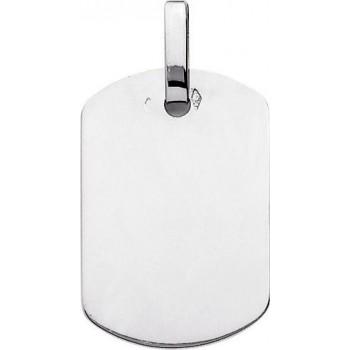 Pendentif PYGMALION G or r blanc 750 /°° dimensions 28 mmx 19 mm