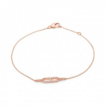 Bracelet CLEO or rose 750 /°° diamants 0,05 carat