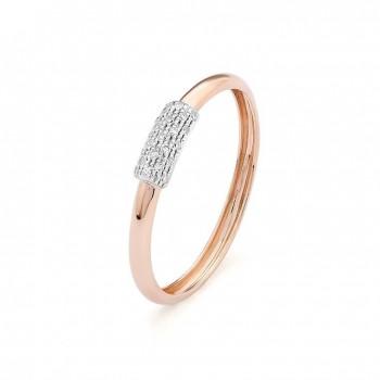 Bague PAOLINA  or rose or blanc 750 /°° diamants 0.05 carat