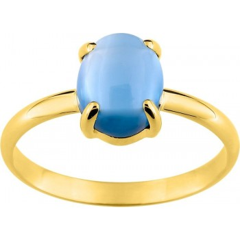 Bague MAJESTIC or jaune 750 /°° topaze London 2.90 carats