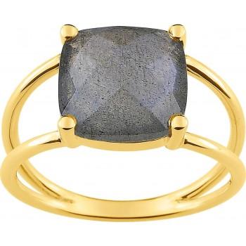 Bague CRILLON or jaune 750 /°° labradorite 2.02 carats