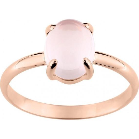 Bague MAJESTIC or rose 750 /°° quartz rose 2.20 carats