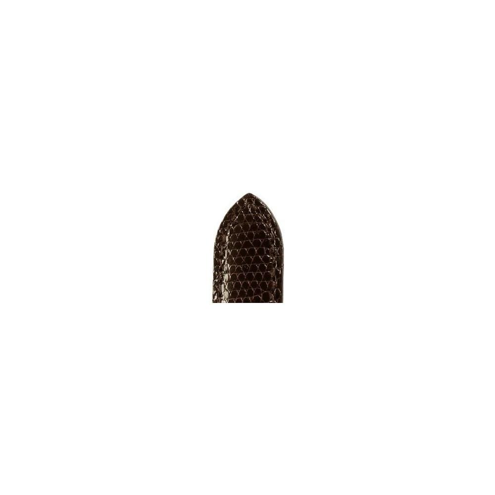 Bracelet ZRC DELPHES lézard marron brillant 20/18 mm