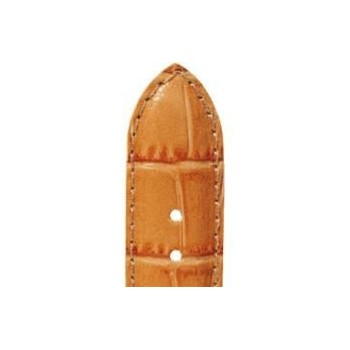 Bracelet ZRC YAOUNDE veau orange grain alligator brillant 16/14 mm