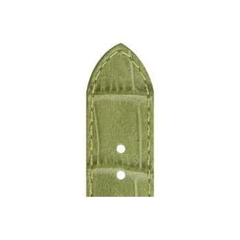 Bracelet ZRC YAOUNDE veau grain alligator vert clair 16/14 mm
