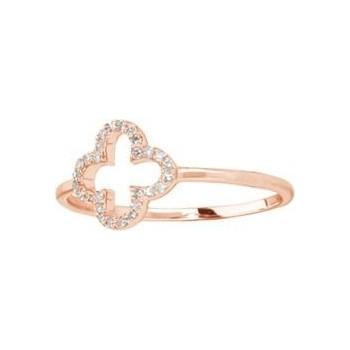 Bague STELLA or rose 750 /°° diamants 0,09 carat