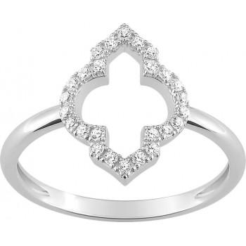Bague TALLULAH or blanc 750 /°° diamants 0,16 carat