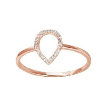 Bague MIMIROSE or rose 750 /°°diamants 0,07 carat