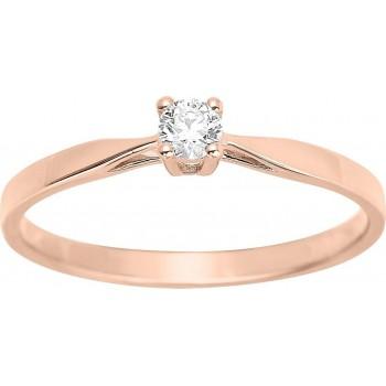 Bague de fiançailles CRIOS or rose 750 /°° diamant 0,10 carat