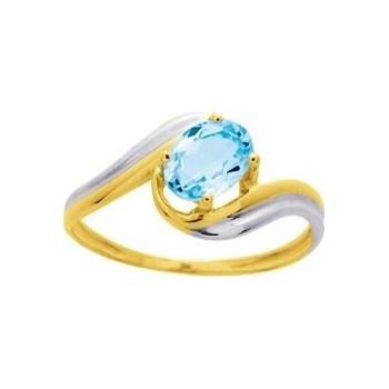 Bague or jaune ORLANDO 750 /°° topaze bleue