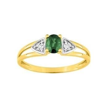 Bague DOLCE  or jaune 750 /°° diamants émeraude
