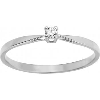 Bague de fiançailles CRIOS or blanc 750 /°° diamant 0,04 carat