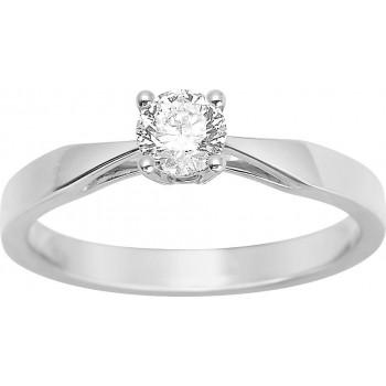 Bague de fiançailles CRIOS or blanc 750 /°° diamant 0,35 carat