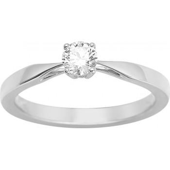 Bague de fiançailles CRIOS or blanc 750/°° diamant 0,30 carat