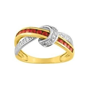 Bague FRONTIGNAN or jaune  750 /°° diamants rubis