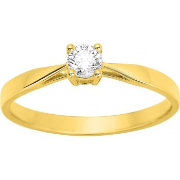 Bague de fiançailles CRIOS or jaune 750 /°° diamant 0,18 carat