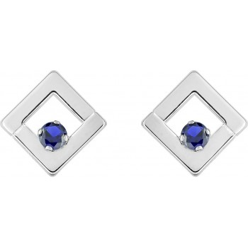 Boucles d'oreilles ALLORO or blanc 750 /°° saphirs bleus