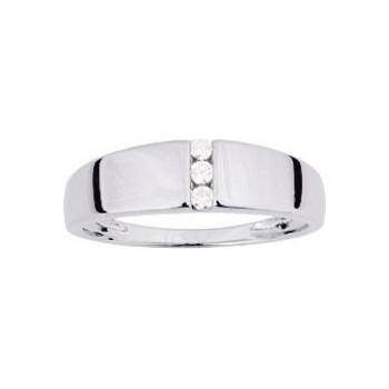 Bague SUSI or blanc 750 /°° diamants 0,06 carat