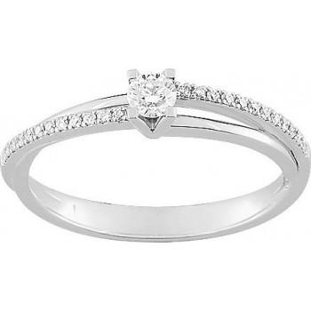 Bague de fiançailles MELIANE or blanc 750 /°° diamants 0,21 carat